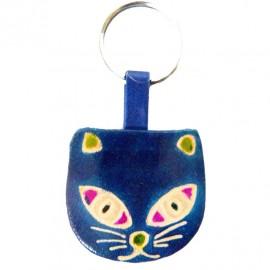 Porte-clés Macha chat bleu
