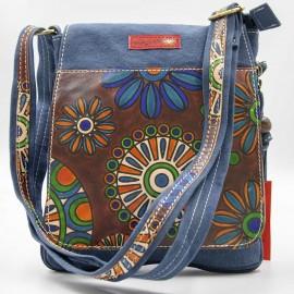 pochette Lantara bleu fleurs 2