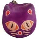 Porte monnaie Macha chat violet