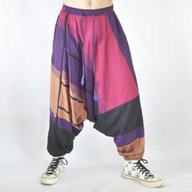 Sarouel ethnique Tinga bleu et violet 3