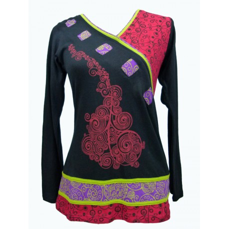 Tee shirt ethnique Mantra rouge